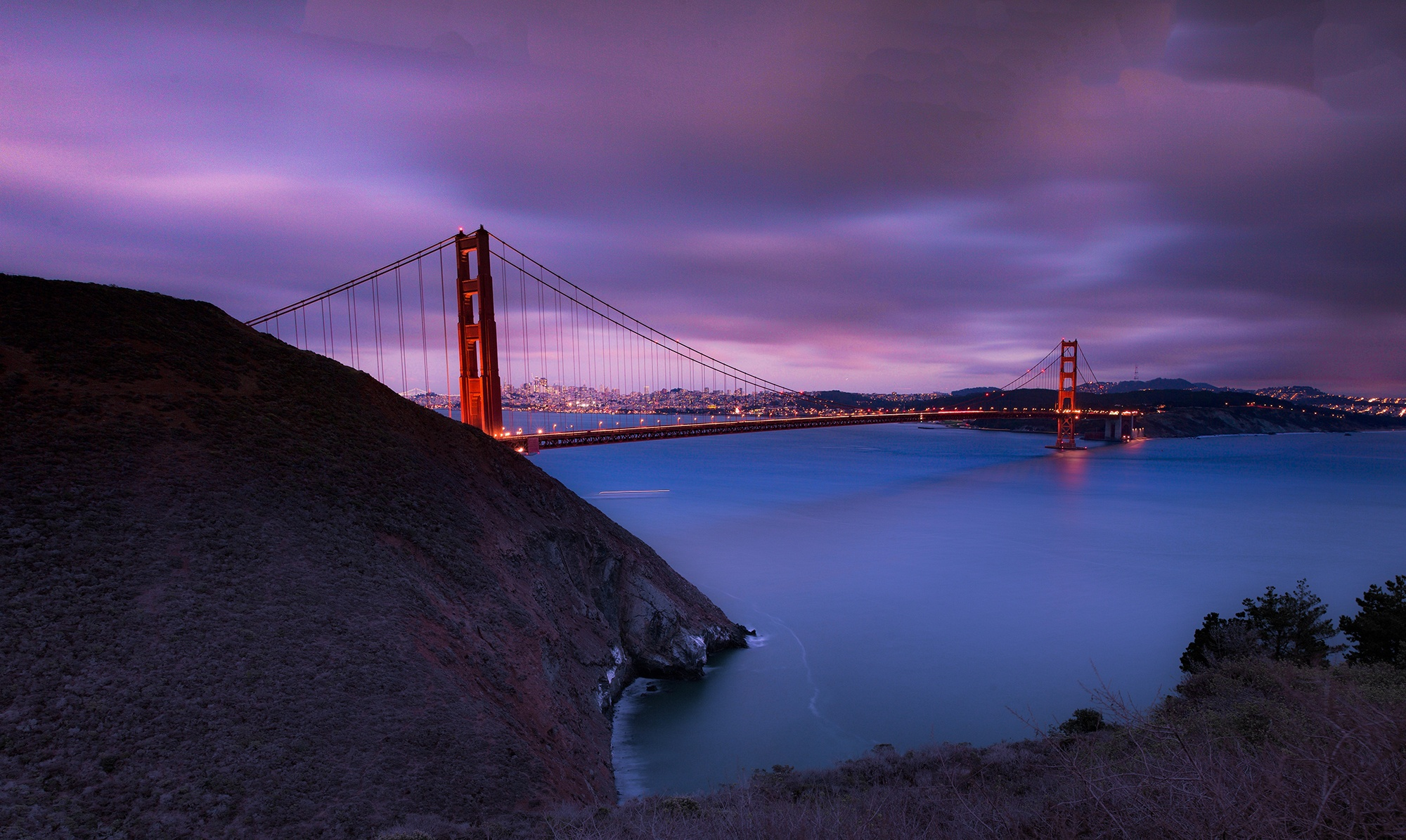 Golden Gate Bridge at Night, San Francisco