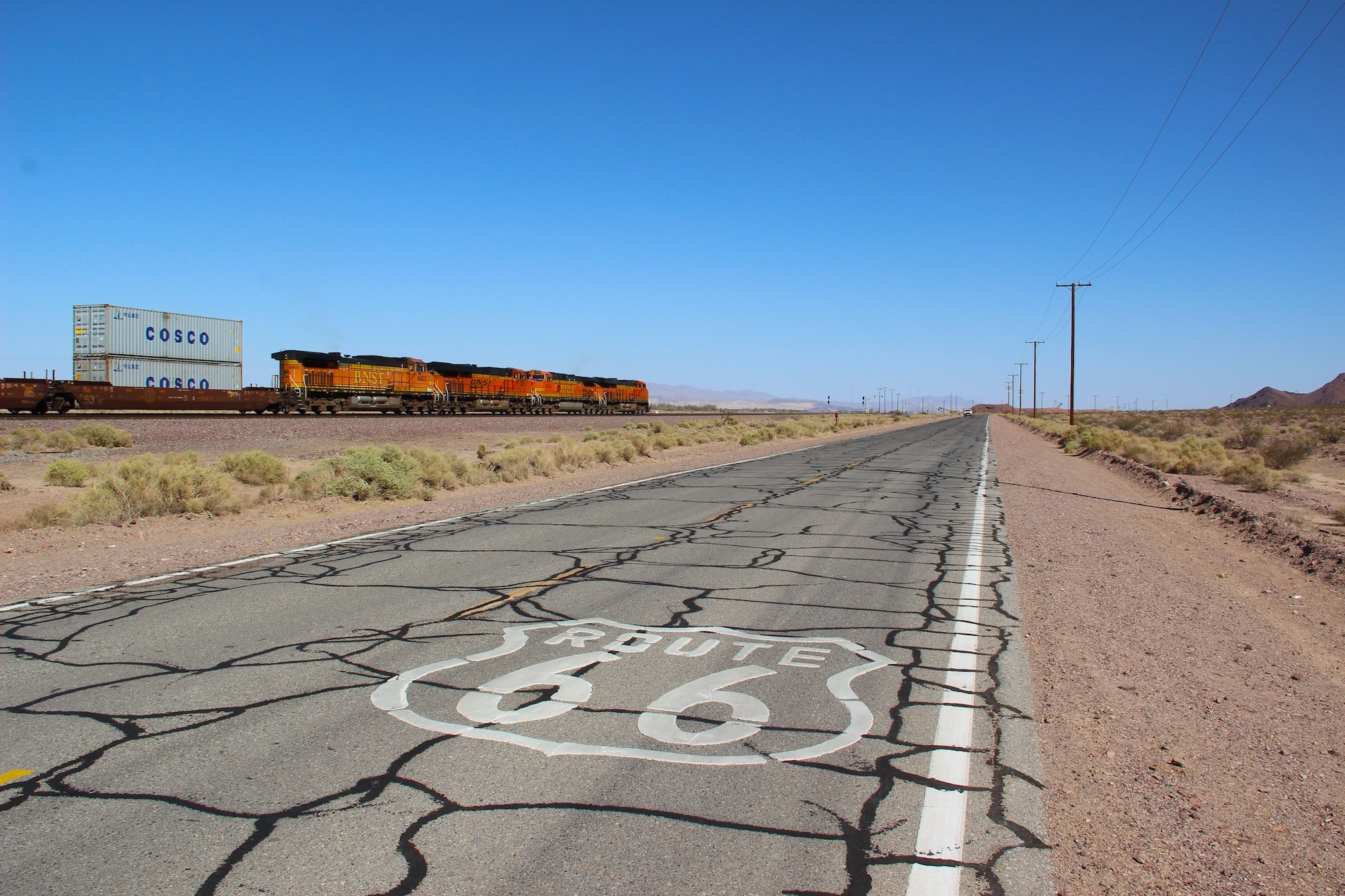 Route 66 Cracked Road