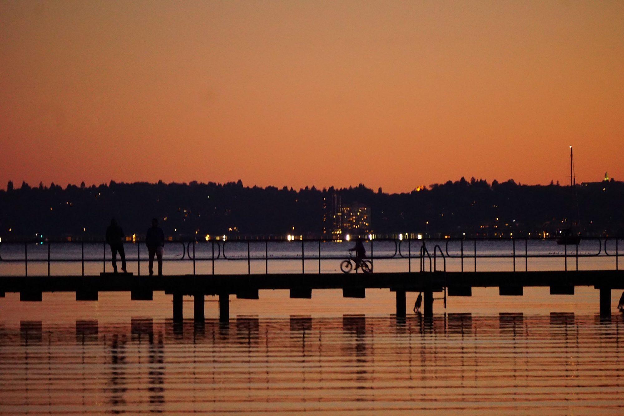 Seattle Bridge Sunset