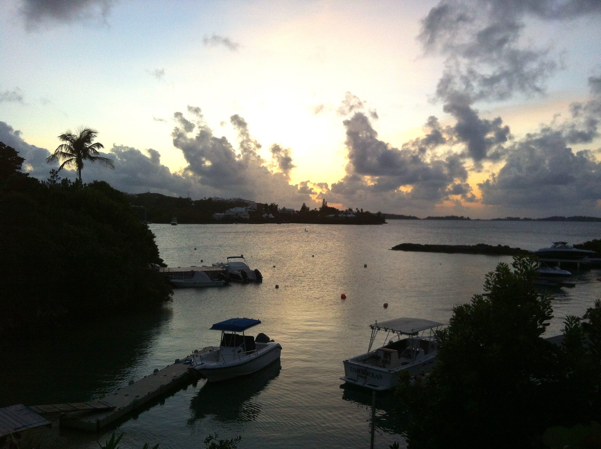 Bermuda Boats Sunset