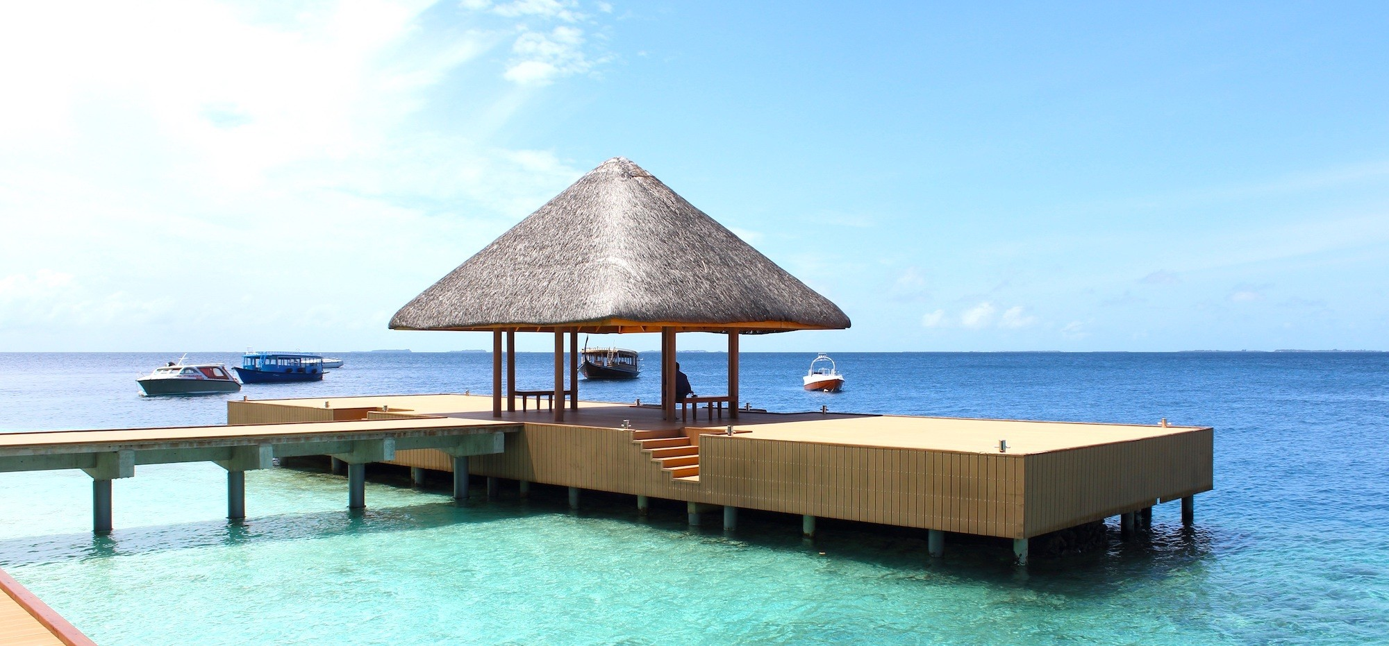Maldives Jetty Beach Hut