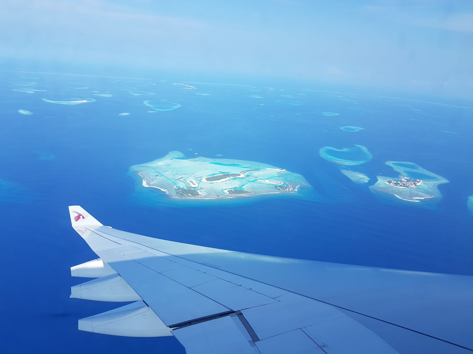 Maldives from the Plane