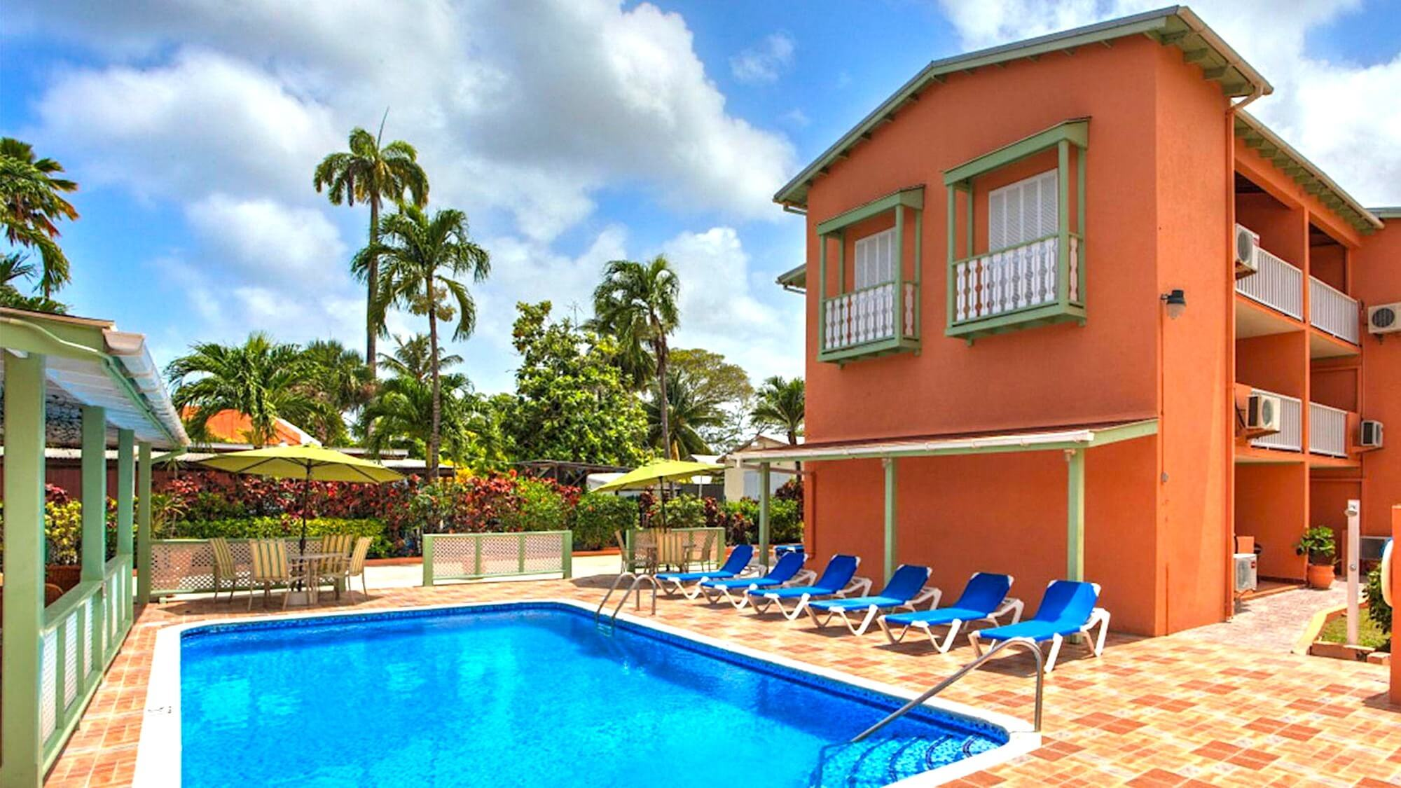 Worthing Court Barbados Pool Area