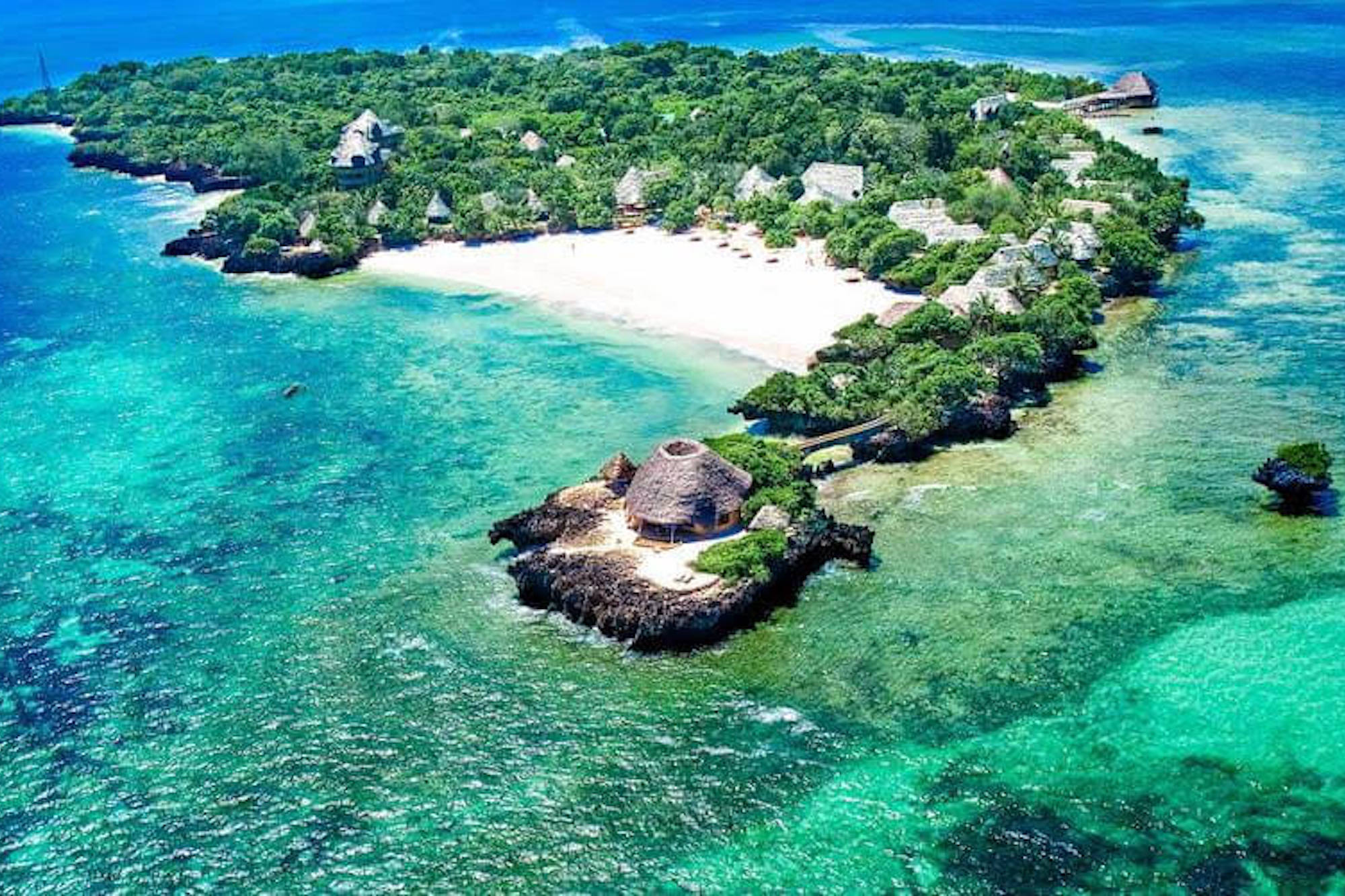 The Sands at Chale Island From Above