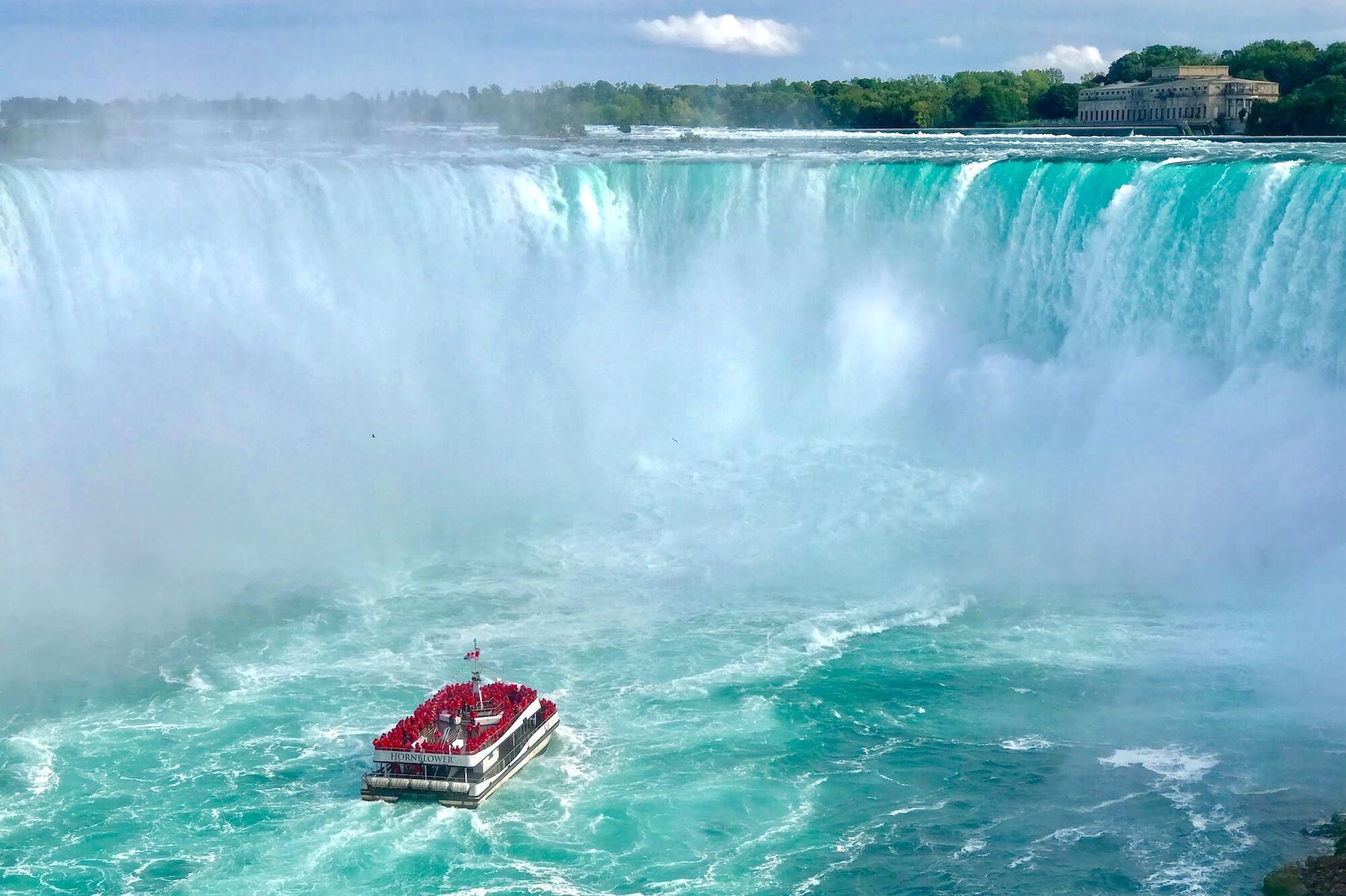 Boat on Niagara Falls