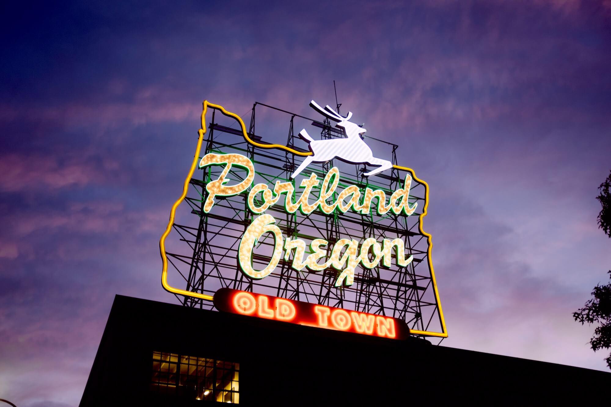 Portland Oregon Neon Sign
