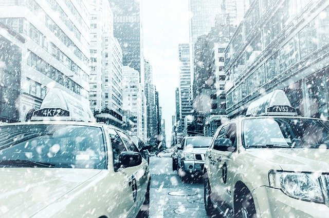 new york snow cars