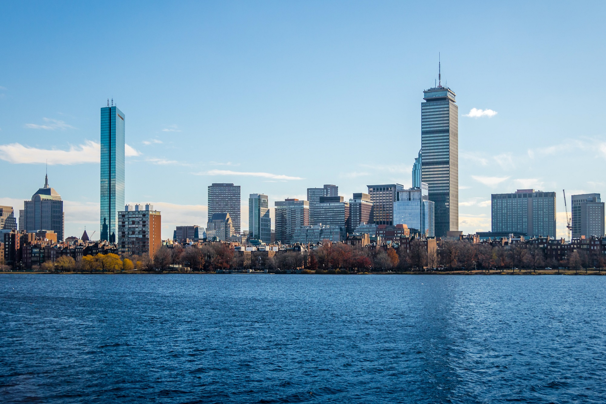Boston skyline and Charles River seen from Cambridge - Massachusetts, USA
