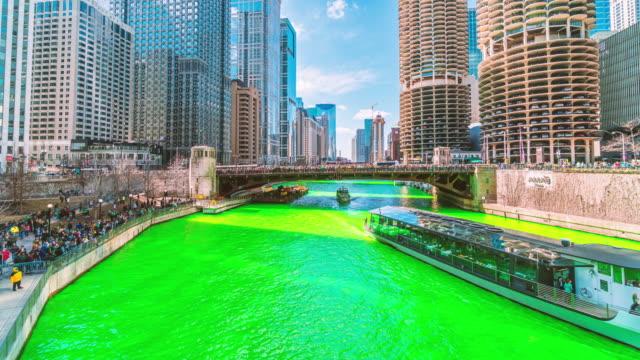 chicago lake green, saint paddys day