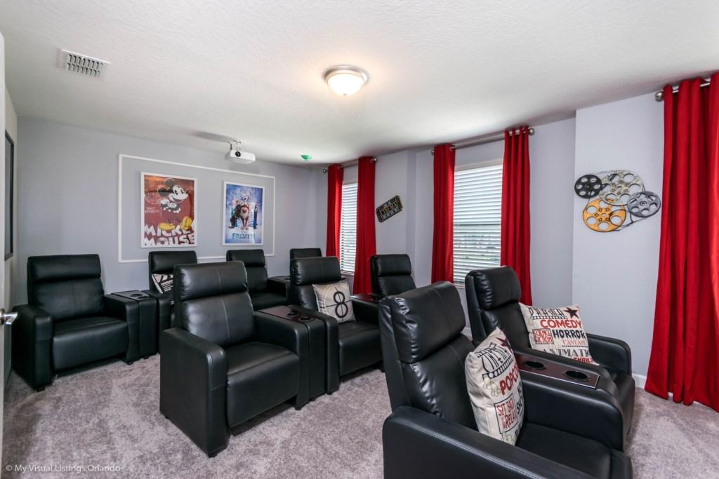 storey lake - cinema room